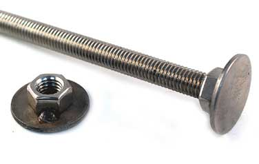 Carriage Cap Nut<br />18-8 / 304 Stainless Steel