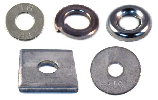 Washers<br />316 Stainless Steel