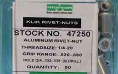 Rivet Nuts<br />Aluminum